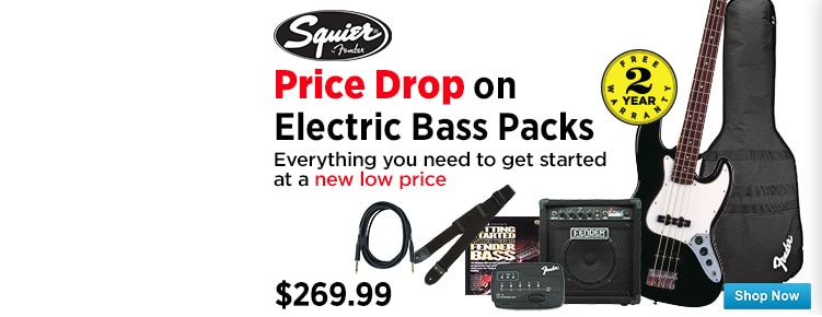 Price Drop on Squier Electric Bass Packs