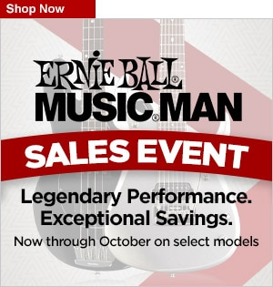 Ernie Ball Music Man Sales Event