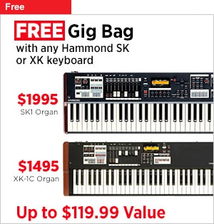 Free Gig Bag With Any Hammond SK or XK Keyboard