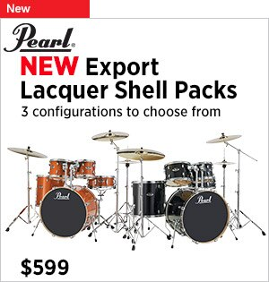 Introducing Pearl Export Lacquer Shell Packs