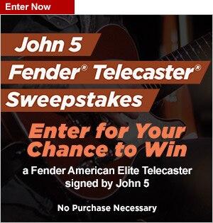 John 5 Fender Telecaster Sweepstakes