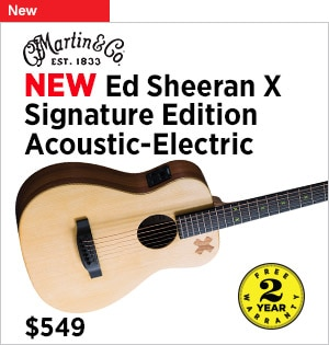 New Martin Ed SheeranX Signature Edition AcousticElectric Guitar