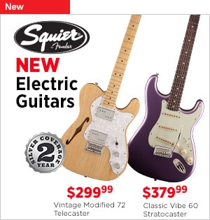 New Squier Electric Guitars