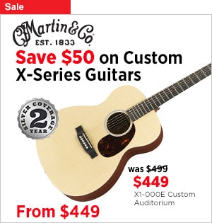 Save 50 on Custom Martin X Series guitars