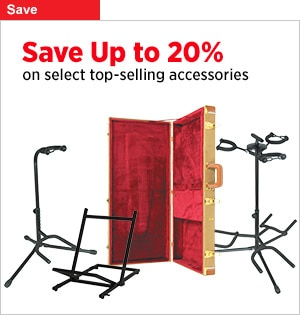 Save Up to 20 onselect Musicians Gear Accessories