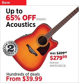 Save up to 65 off MSRP on Acoustic Guitar Deals