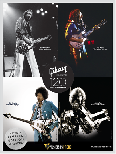 FREE Gibson guitar poster...