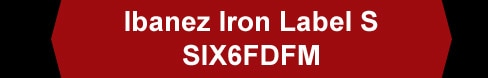 Ibanez Iron Label S SIX6FDFM
