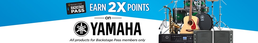 Backstage pass members only earn two times points on all Yamaha products