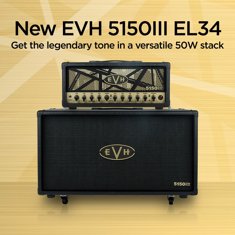 New EVH 515III EL314 Get the legendary tone in a verstaile 50 Watt Stack