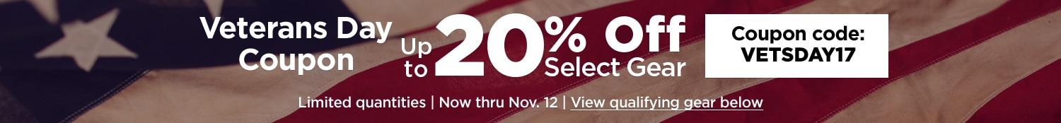 Veterans day coupon up to 20% off. Coupon code V E T S D A Y 17