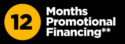 12 months promotional financing * *