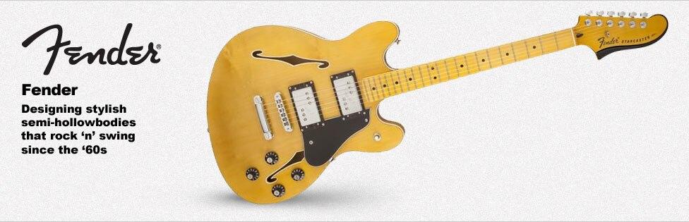 Fender Hollowbody and Semi-Hollowbody Guitars