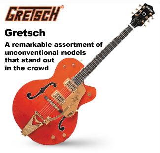 Gretsch Hollowbody and Semi-Hollowbody Guitars