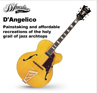 D'Angelico Hollowbody and Semi-Hollowbody Guitars