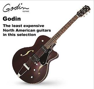 Godin Hollowbody and Semi-Hollowbody Guitars
