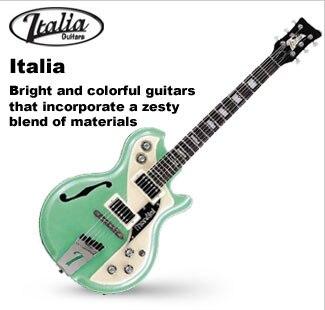 Italia Hollowbody and Semi-Hollowbody Guitars