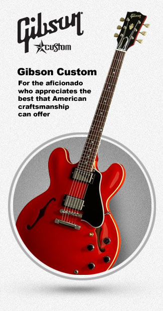 Gibson Custom Hollowbody and Semi-Hollowbody Guitars