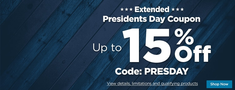 Presidents Day Coupon Extended
