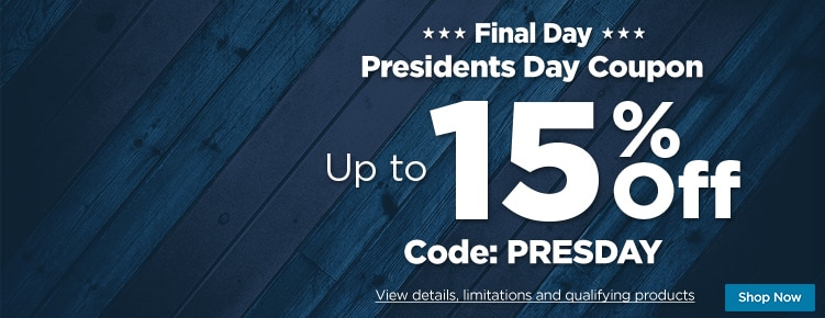 Presidents Day Coupon Final Day