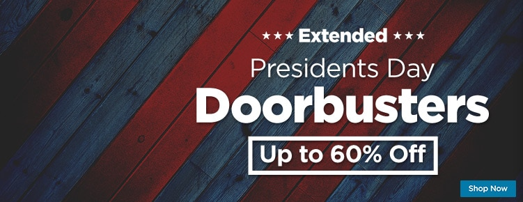Presidents Day Doorbusters Extended