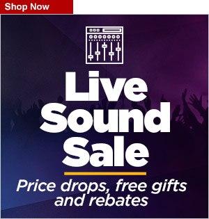 Live Sound sale