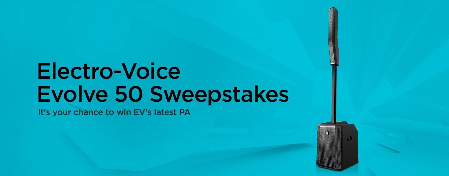 Electro-Voice Evolve 50 Sweepstakes