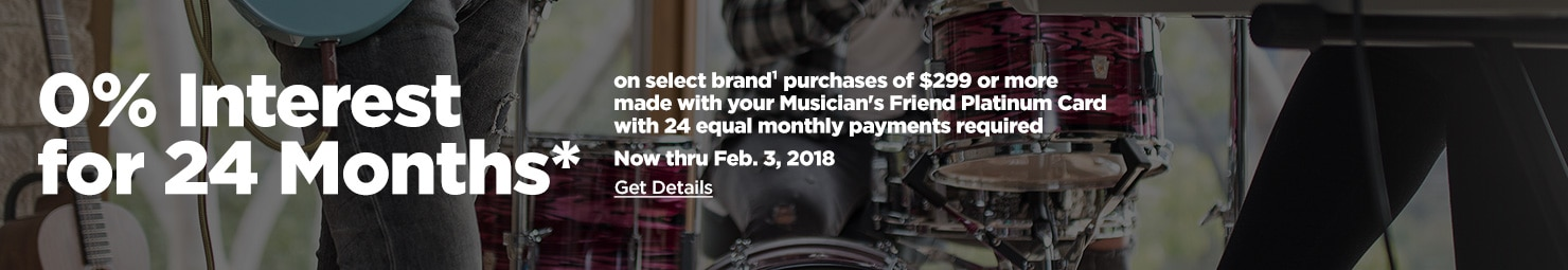 0% Interest for 24 Months* on select brand purchases of $299+