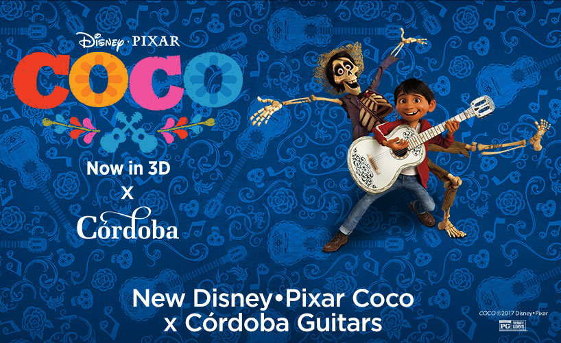 Disney•Pixar Coco x Córdoba classical guitars - Limited-Edition Models Now Available for Pre-Order