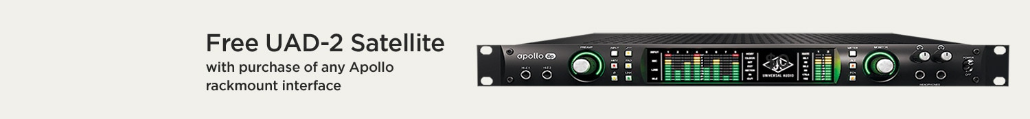 Free UAD-2 Satellite with purchase of any Apollo