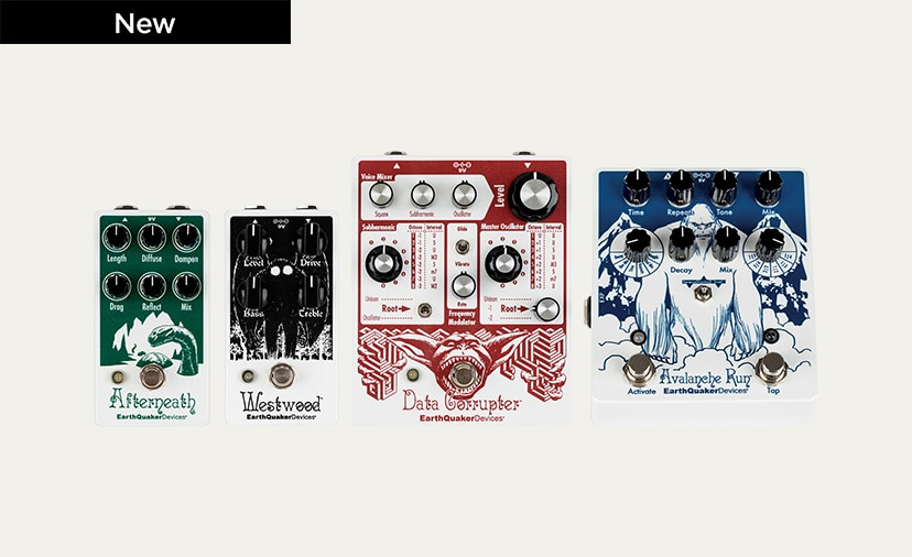 New EarthQuaker Pedals - Special-run artwork on four of their most popular effects