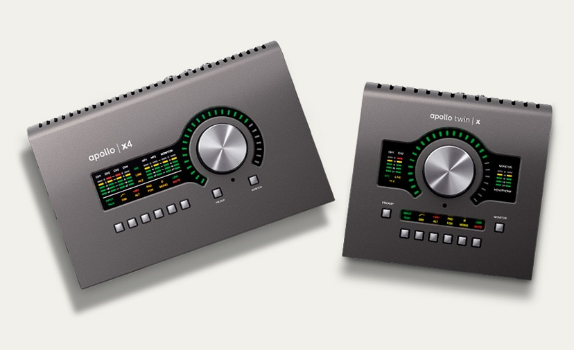 Aspire to Great Recordings. New Universal Audio Apollo Twin x and x4 Audio Interfaces