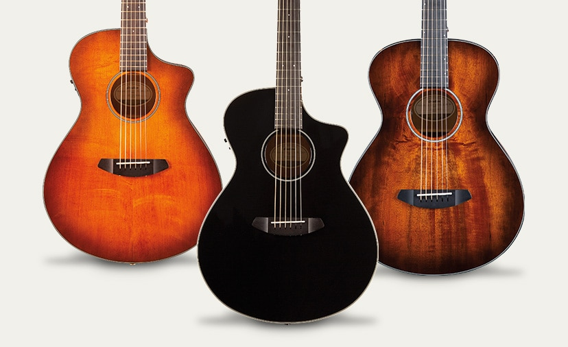 Explore a New World of Tone. Breedlove Discovery Concert and Pursuit Exotic Concertina models in bold new finishes