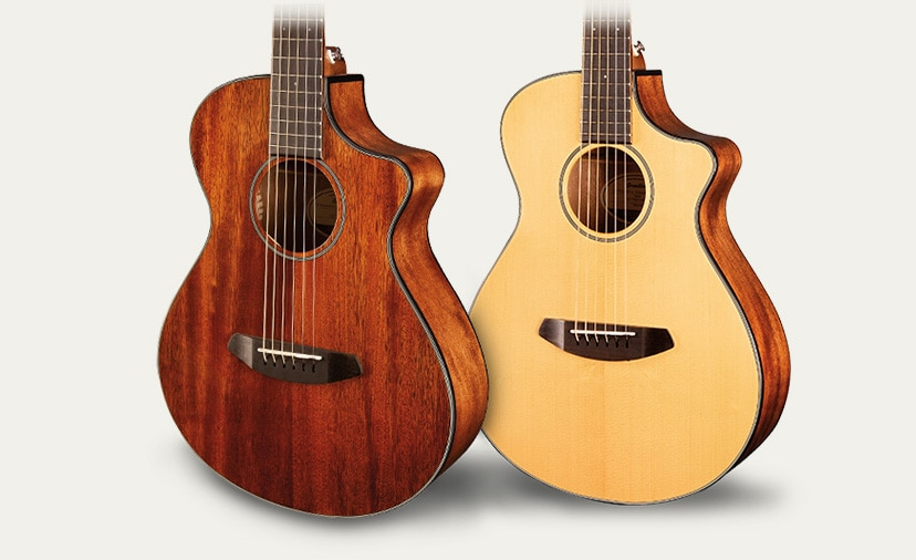 Fun on the Road. Breedlove Companion travel ready guitars are easy to play and sound great.