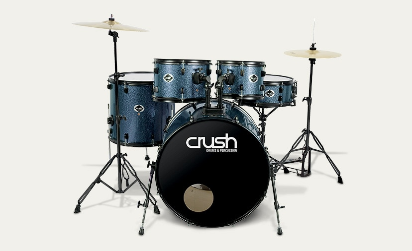 Everything You Need to Start Up and Play.  Introducing the new all-in-one Alpha kit from Crush Drums