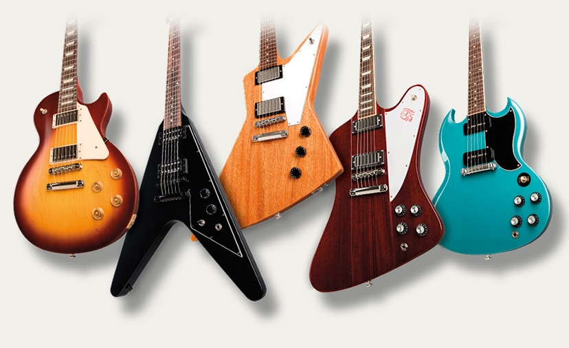 New Gibson USA Guitars. Original and Modern models in traditional body shapes