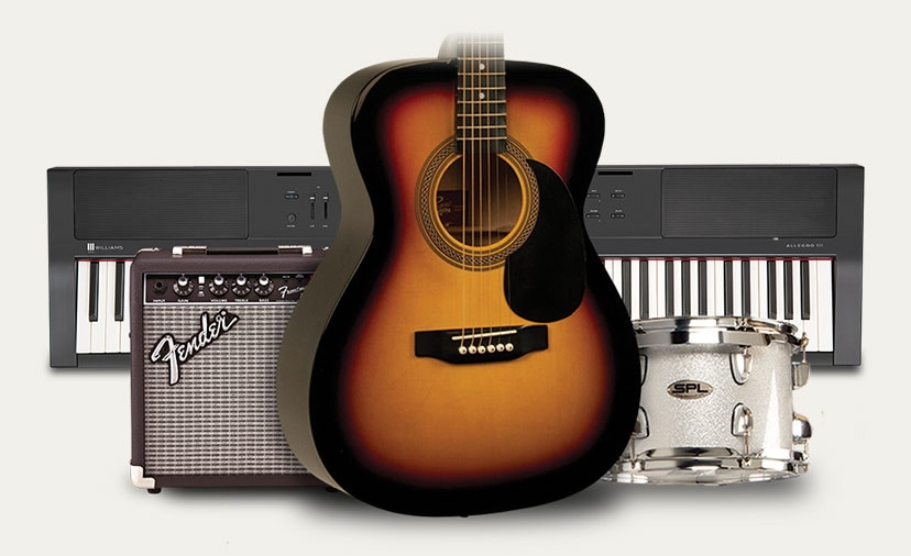 Tis the Season to Start Playing. Shop the best in beginner guitars, keys, D.J., drums and more