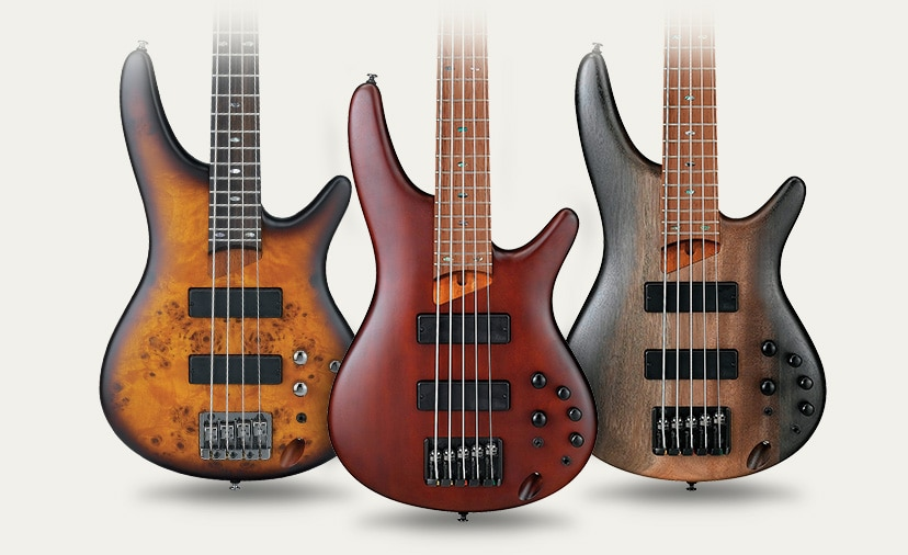 Command Every Session Ibanez Premium Series Basses offer perfectly matched electronics and exotic tonewoods