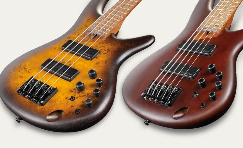 Great Sound, No Sweat. Ibanez SR500 basses are upgraded with Bartolini BH2 pickups