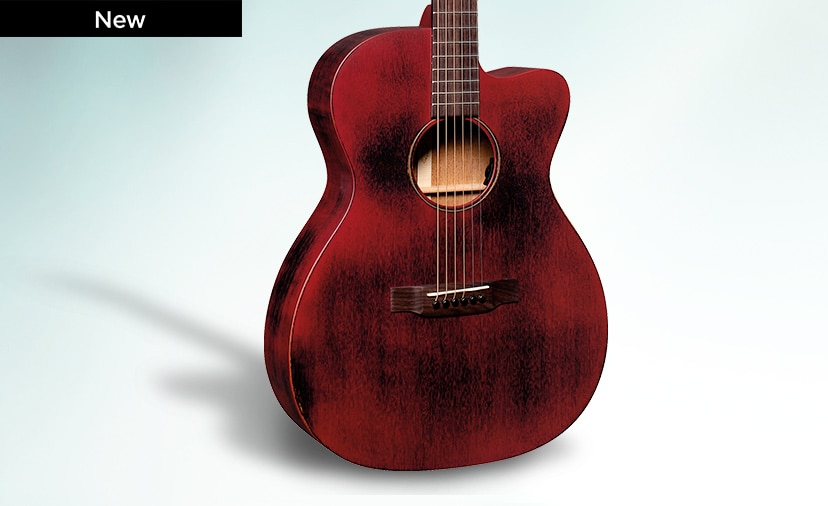 Americana Crafted Tone. Martin OMC Streetmaster with Fishman electronics in Weathered Red