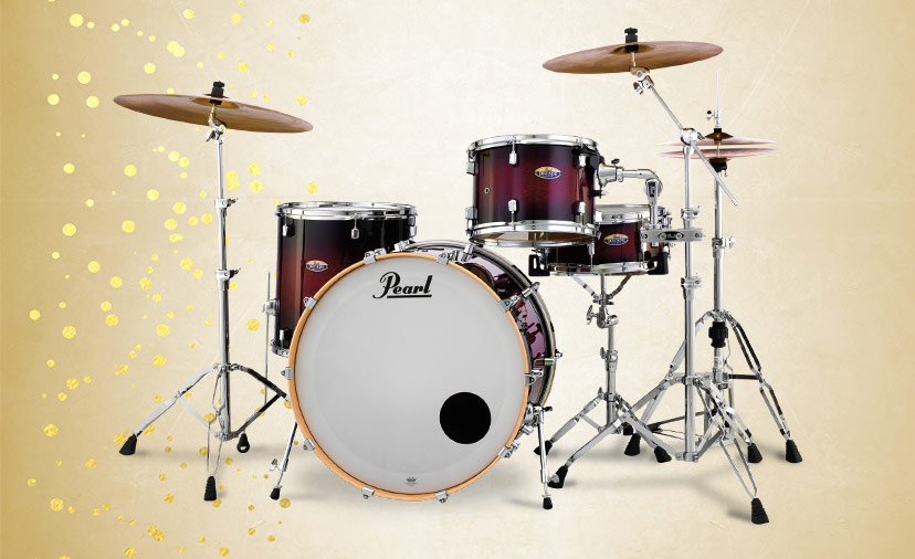 Pearl Decade Shell Packs Deliver. Maple tones with Pearl Superior Shell Technology and low-mass hardware
