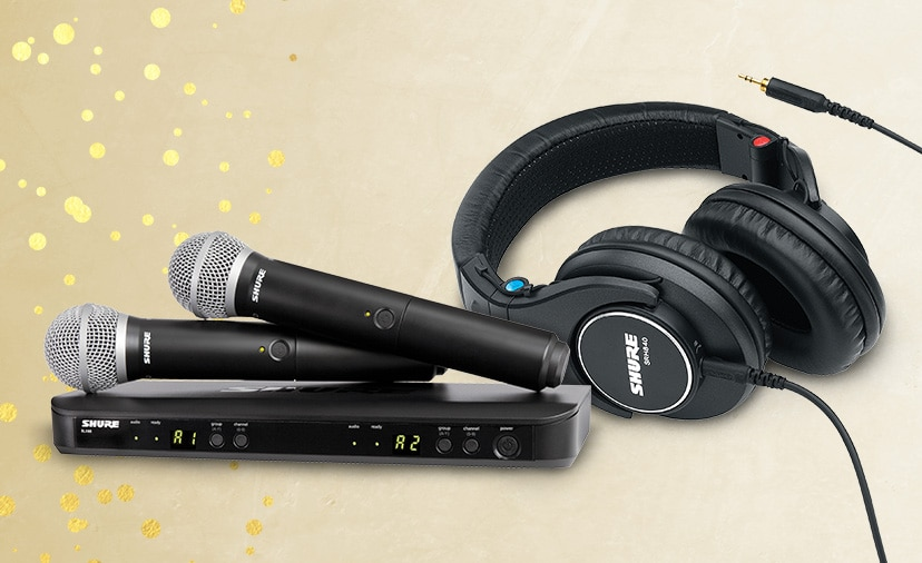 Save on Shure mics, headphones, wireless and more. Up to 100 dollars off select items thru Dec. 31