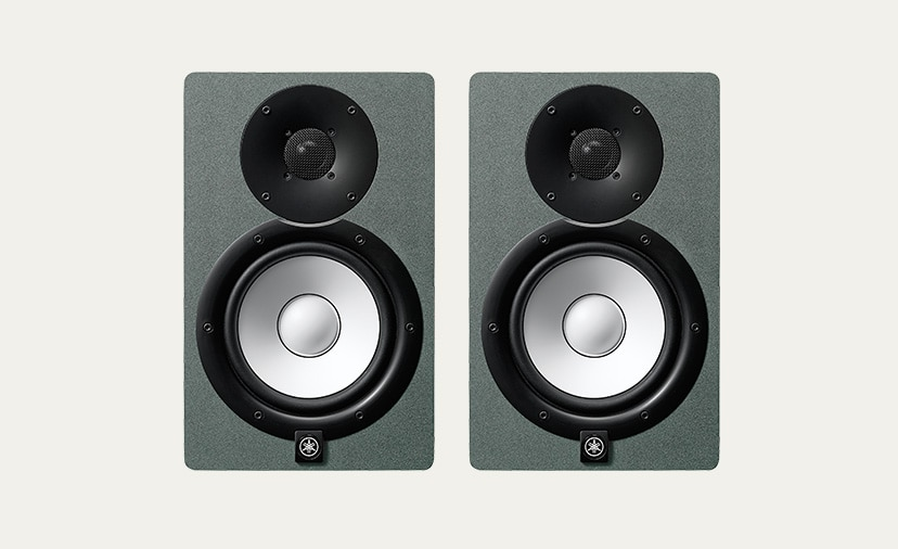 Yamaha HS Series Studio Monitors.  Trusted accuracy - now in a sleek Slate Grey finish