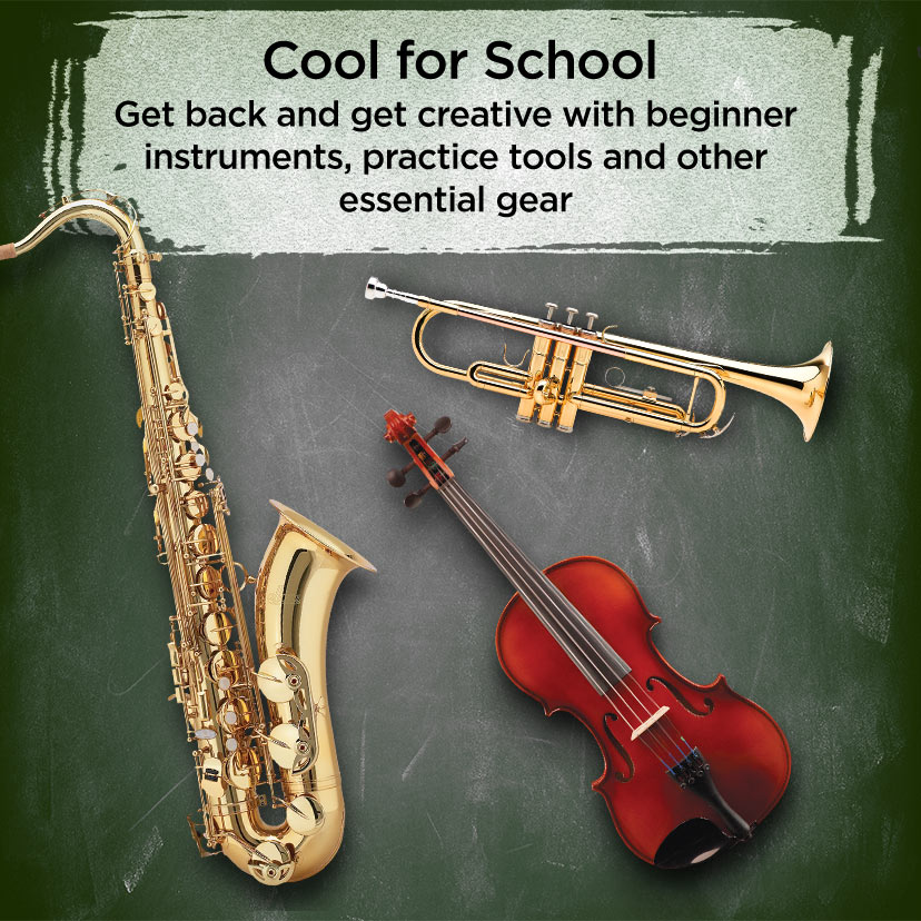 Cool for School Get back and get creative with beginner instruments, practice tools and other essential gear