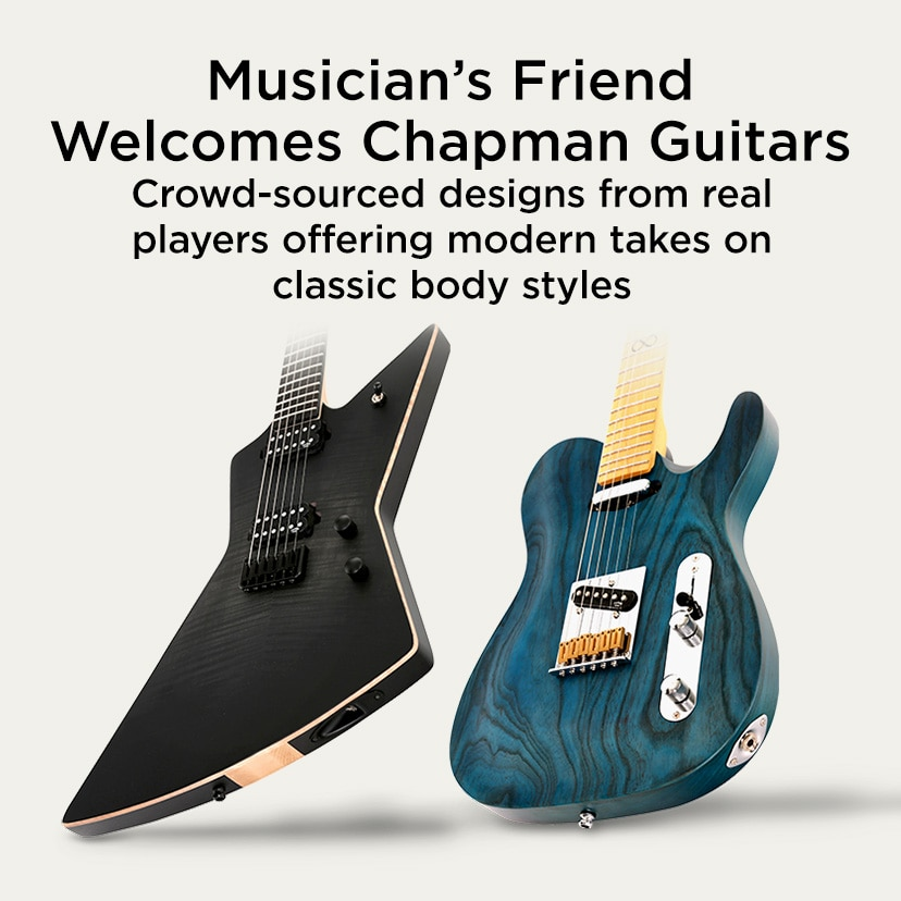 Musician's Friend Welcomes Chapman Guitars. Crowd-sourced designs from real players offering modern takes on classic body styles