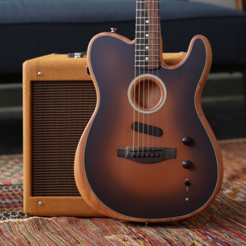 Take every gig-Acoustic or Electric-with one guitar. The new Fender American Acoustasonic Telecaster