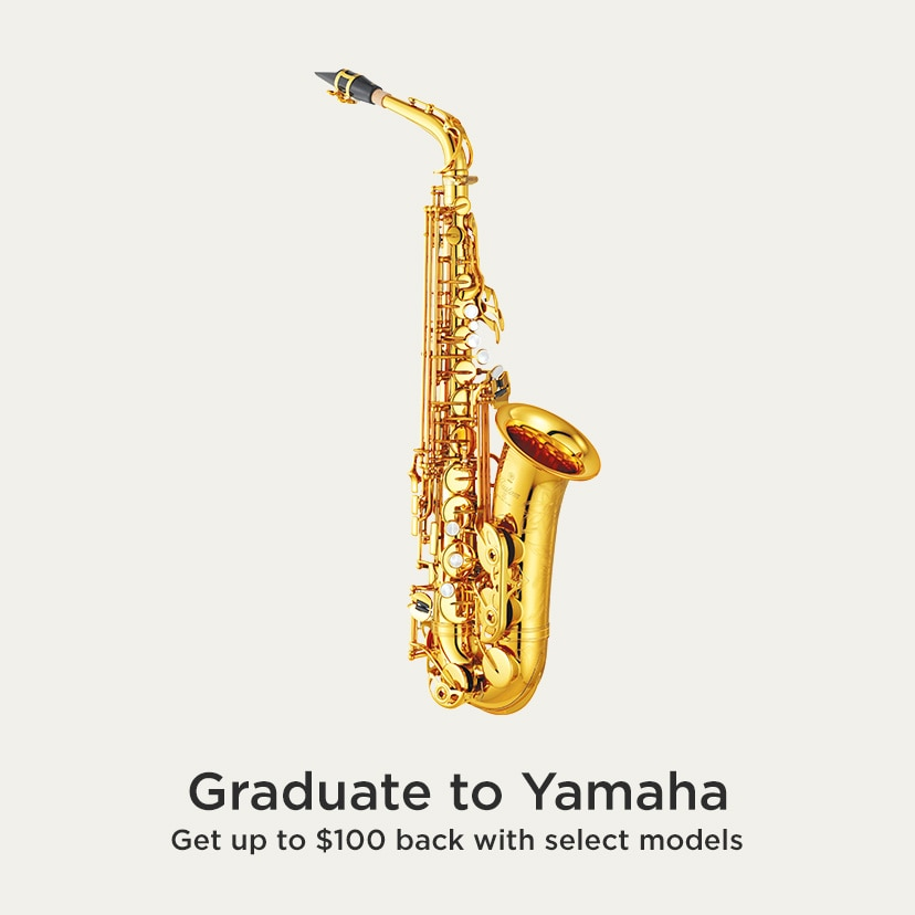 Graduate to Yamaha. Get up to $100 back with select models