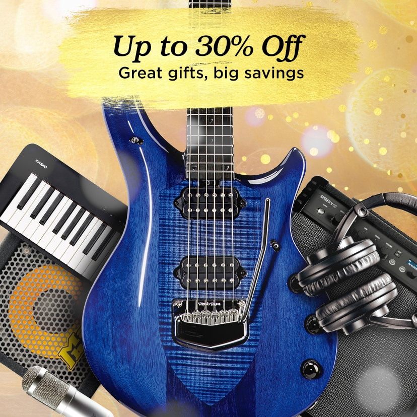 Up to 30 percent off. Great gifts, big savings