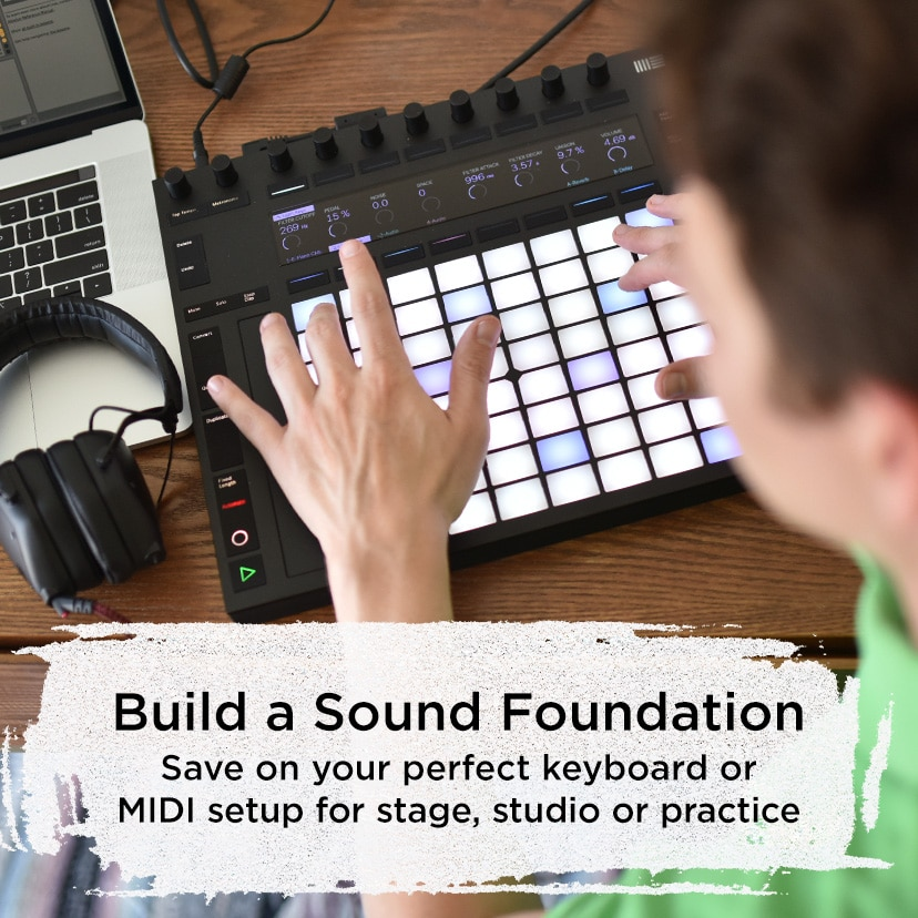 Build a Sound Foundation Save on your perfect keyboard or MIDI setup for stage, studio or practice
