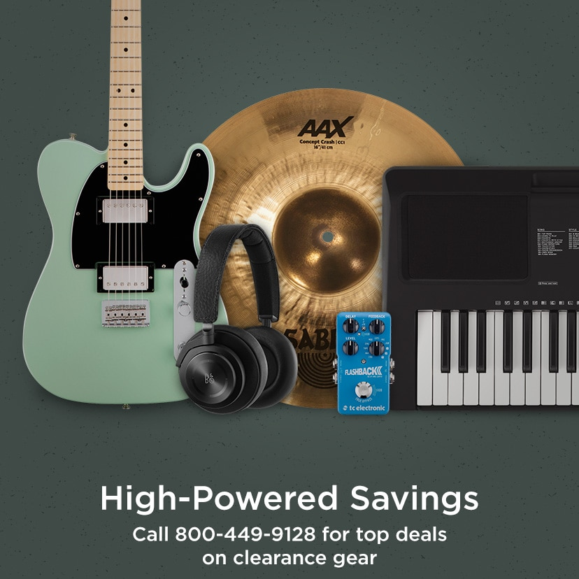 High-Powered Savings.  Call 800-449-9128 for top deals on clearance gear
